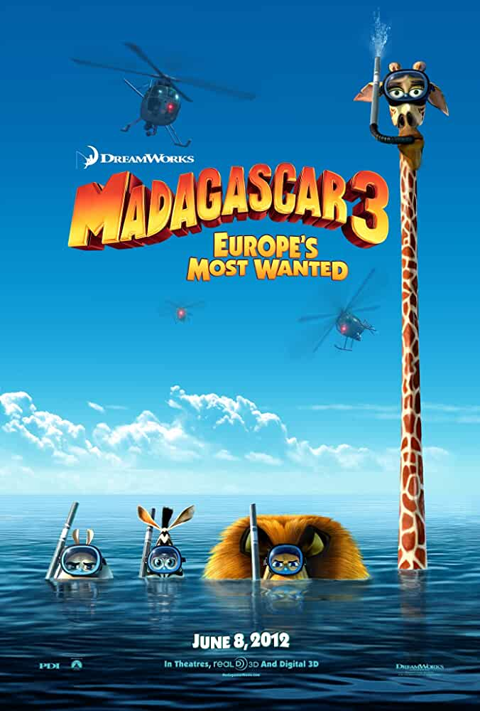Madagascar 3: Europe's Most Wanted (2012) Dual Audio [Hindi + English] | x264 Bluray | 720p | 480p | Download | Watch Online | GDrive | Direct Links