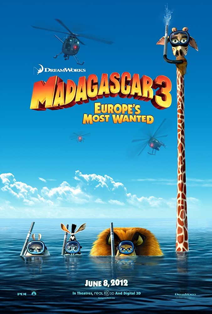 Madagascar 3: Europe's Most Wanted (2012) Hindi Dubbed