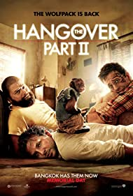 Zach Galifianakis, Ed Helms, and Crystal the Monkey in The Hangover Part II (2011)