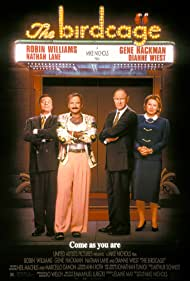 Robin Williams, Gene Hackman, Nathan Lane, and Dianne Wiest in The Birdcage (1996)