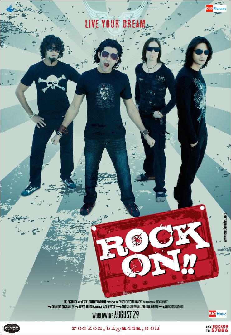 Arjun Rampal, Farhan Akhtar, Purab Kohli, and Luke Kenny in Rock On!! (2008)