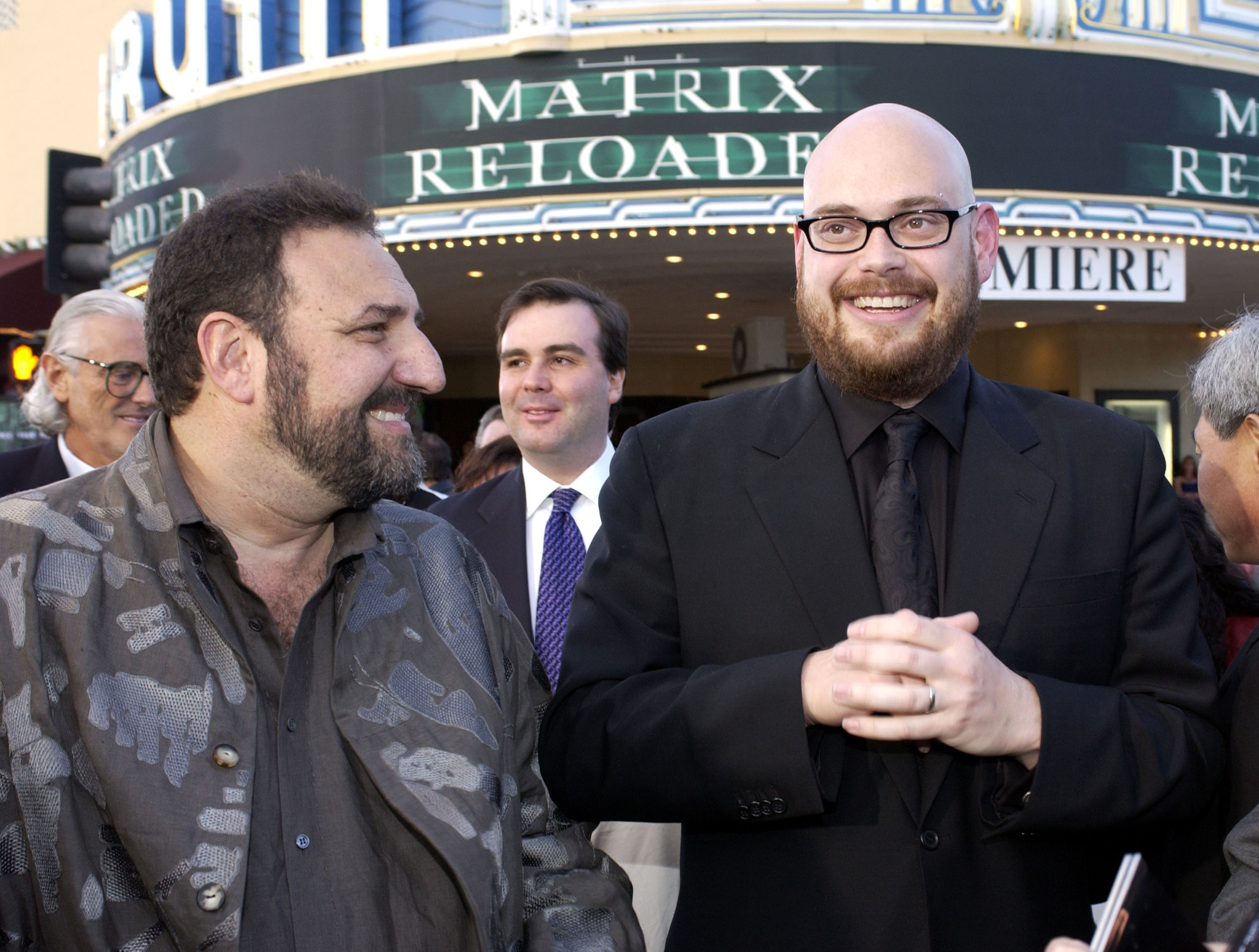 Joel Silver and Lilly Wachowski at an event for The Matrix Reloaded (2003)