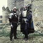 Fernando Hilbeck and Jack Thompson in Flesh+Blood (1985)
