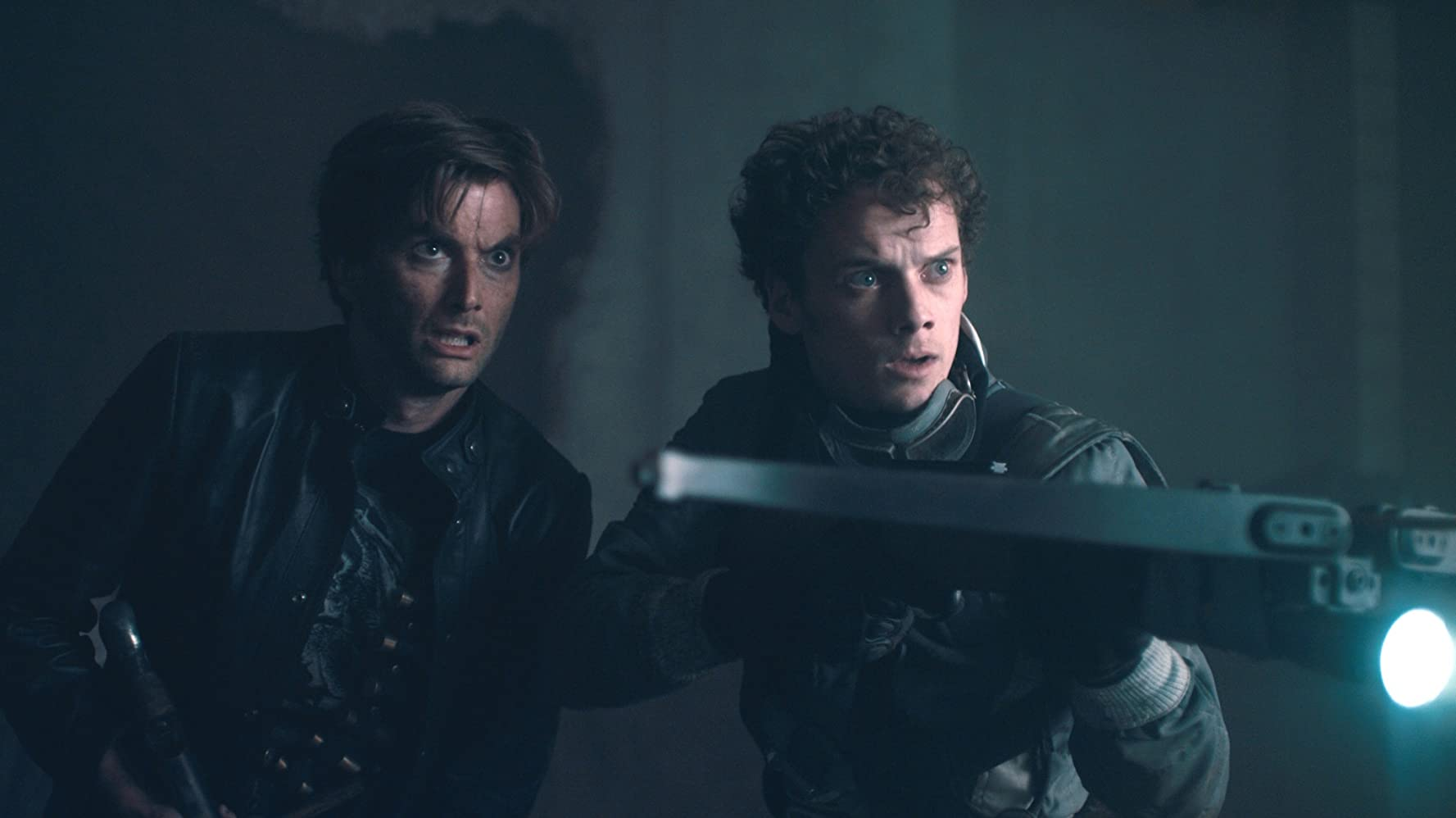 David Tennant and Anton Yelchin in Fright Night (2011)