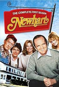 Mary Frann, Jennifer Holmes, Steven Kampmann, Bob Newhart, and Tom Poston in Newhart (1982)