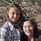 Caitlin Carmichael and Joey Lauren Adams on set of Saving Santa December 2011