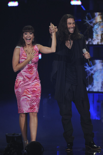 Diana DeGarmo and Ace Young in American Idol: The Search for a Superstar (2002)