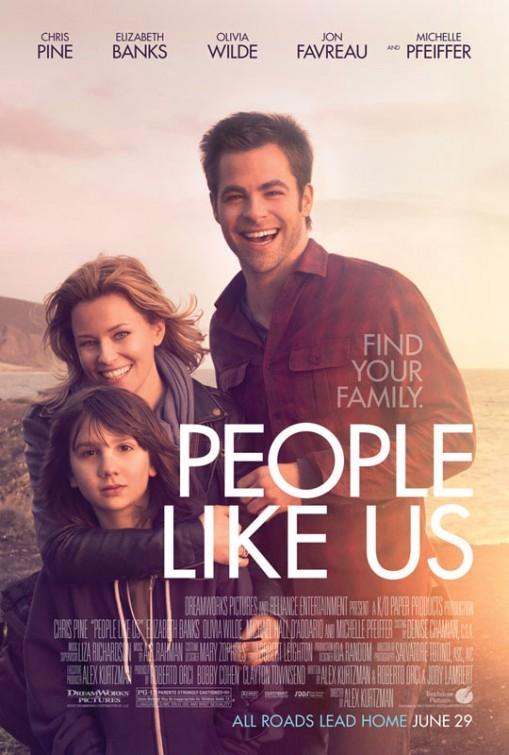 Elizabeth Banks, Chris Pine, and Michael Hall D'Addario in People Like Us (2012)