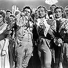 David Niven, Patrick Macnee, Robert Coote, Jack Hawkins, David Hutcheson, and Margaret Leighton in The Elusive Pimpernel (1949)