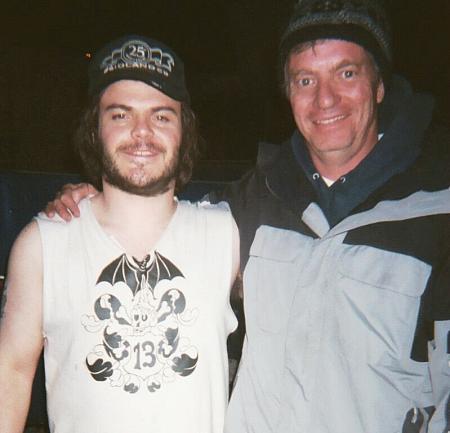 ce2cda30312847 Stephen R. Hudis with Jack Black on the set of Foo Fighters  Video