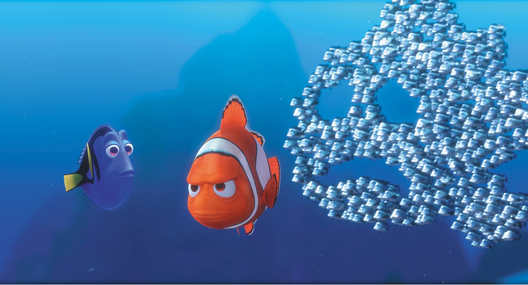 Albert Brooks, Ellen DeGeneres, and John Ratzenberger in Finding Nemo (2003)
