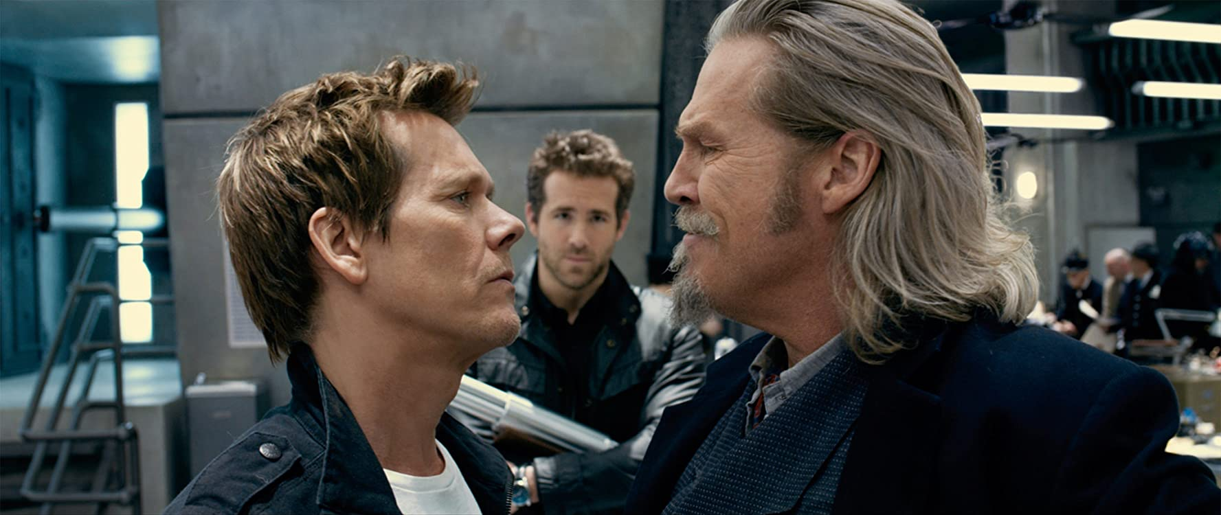 Kevin Bacon, Jeff Bridges, and Ryan Reynolds in R.I.P.D. (2013)