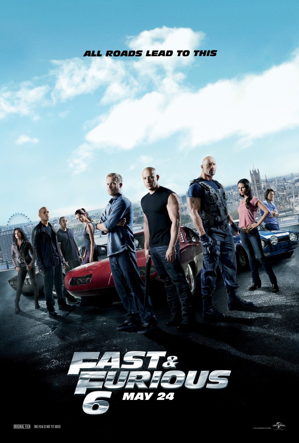 Fast & Furious 6 (2013) BluRay 480p, 720p & 1080p