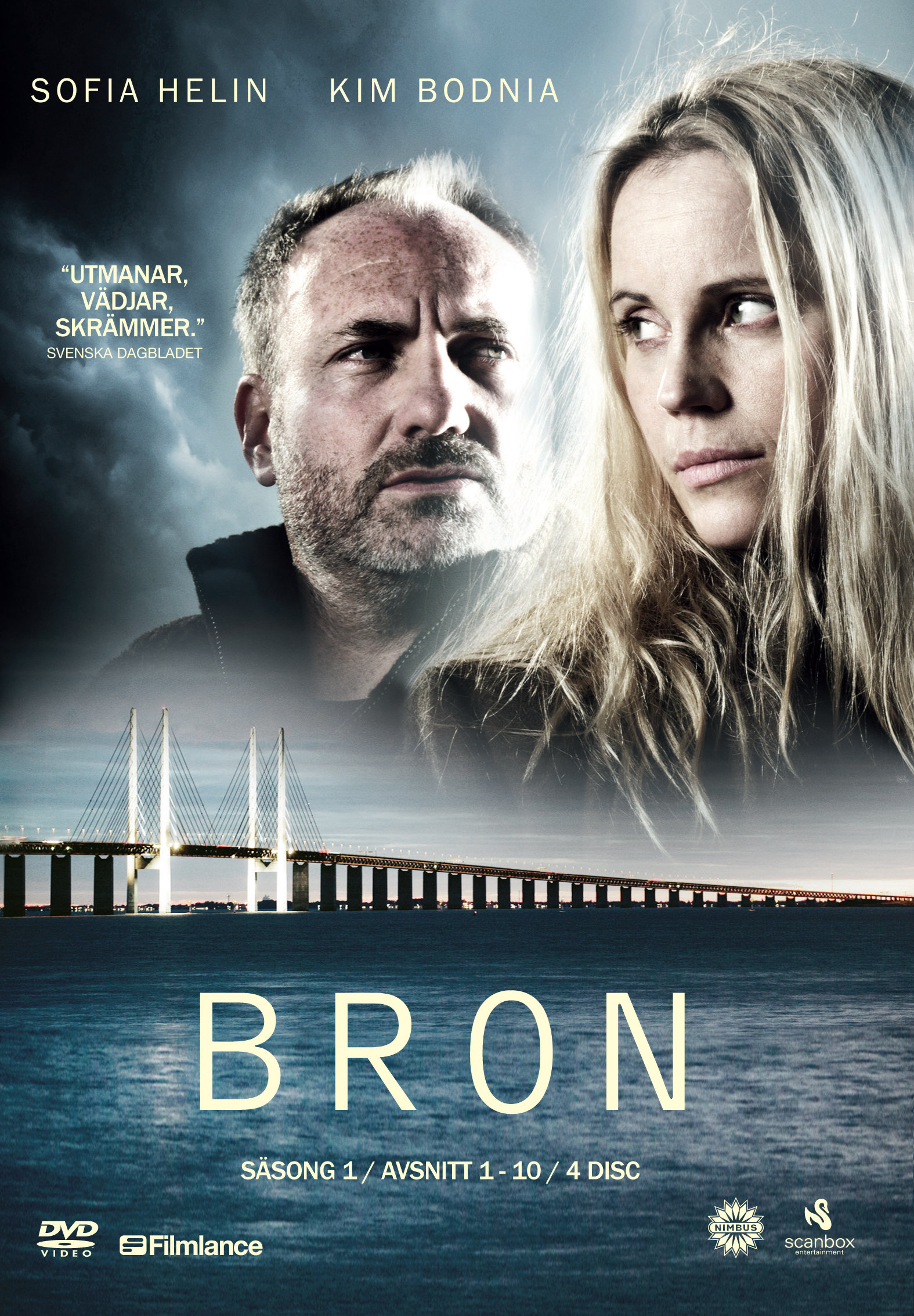 Kim Bodnia and Sofia Helin in Bron/Broen (2011)