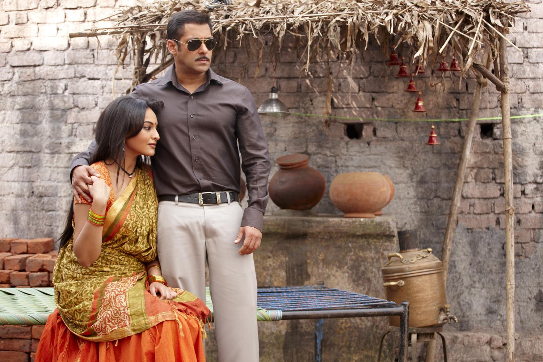 Salman Khan and Sonakshi Sinha in Dabangg (2010)