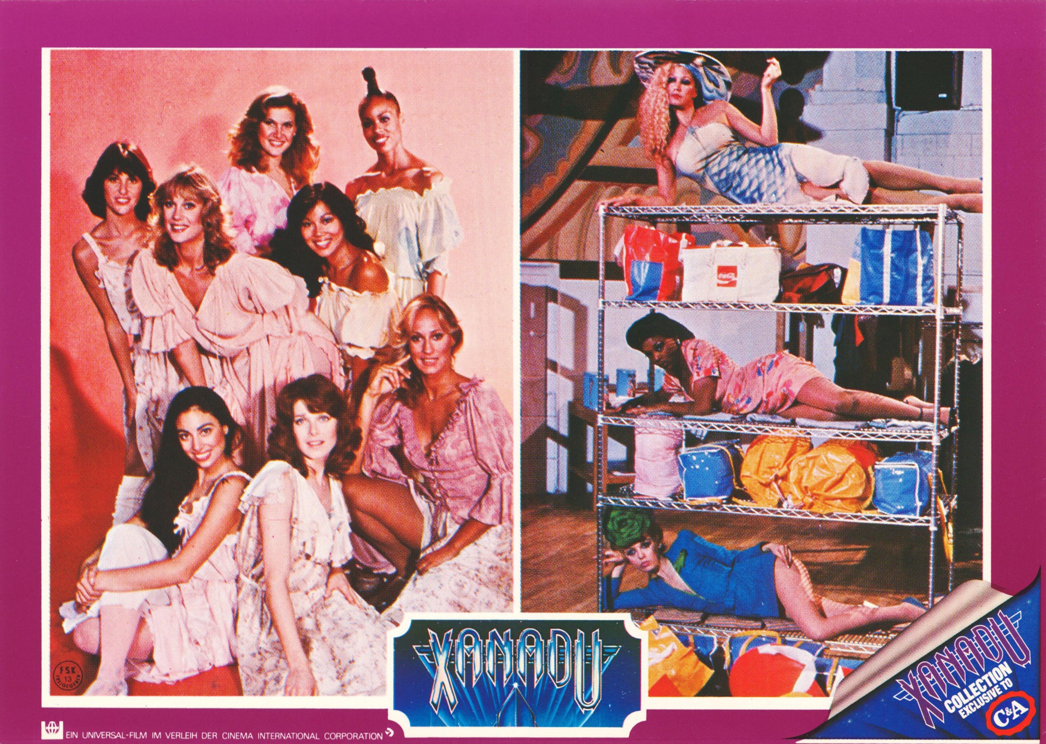 Sandahl Bergman, Lynn Latham, Cherise Bates, Teri Beckerman, Juliette Marshall, Melinda Phelps, Marilyn Tokuda, and Yvette Van Voorhees in Xanadu (1980)