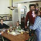 (Left to right) Mary McCormack, Scott Terra, Jenna Boyd, Craig Bierko and David Spade.