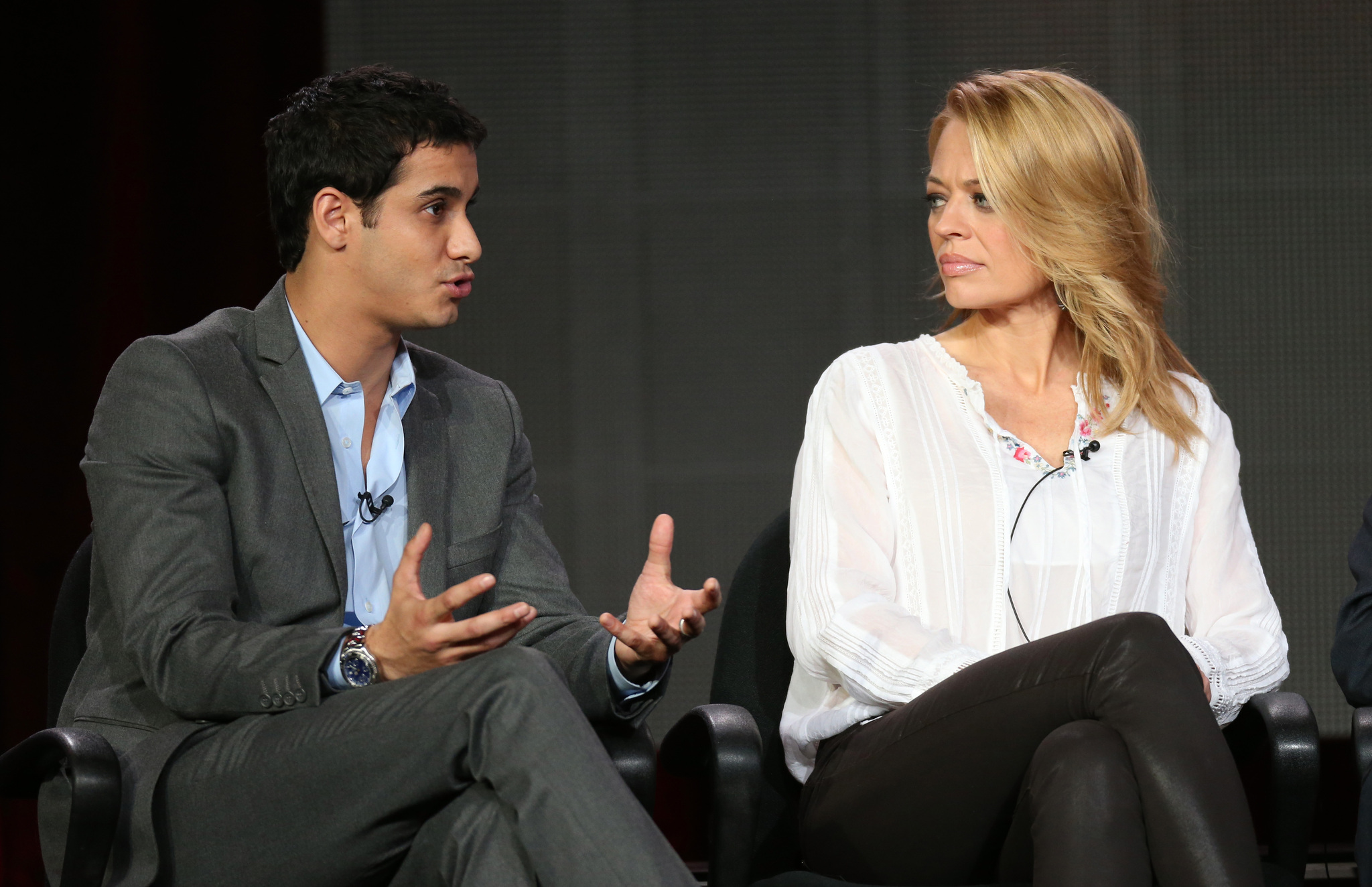 Jeri Ryan and Elyes Gabel at an event for Body of Proof (2011)