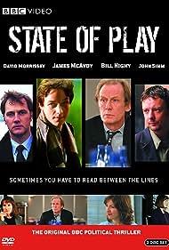 Amelia Bullmore, Deborah Findlay, Kelly Macdonald, James McAvoy, David Morrissey, Bill Nighy, and John Simm in State of Play (2003)