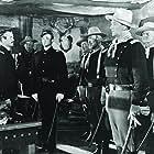 Henry Fonda, John Wayne, John Agar, Cliff Lyons, and George O'Brien in Fort Apache (1948)