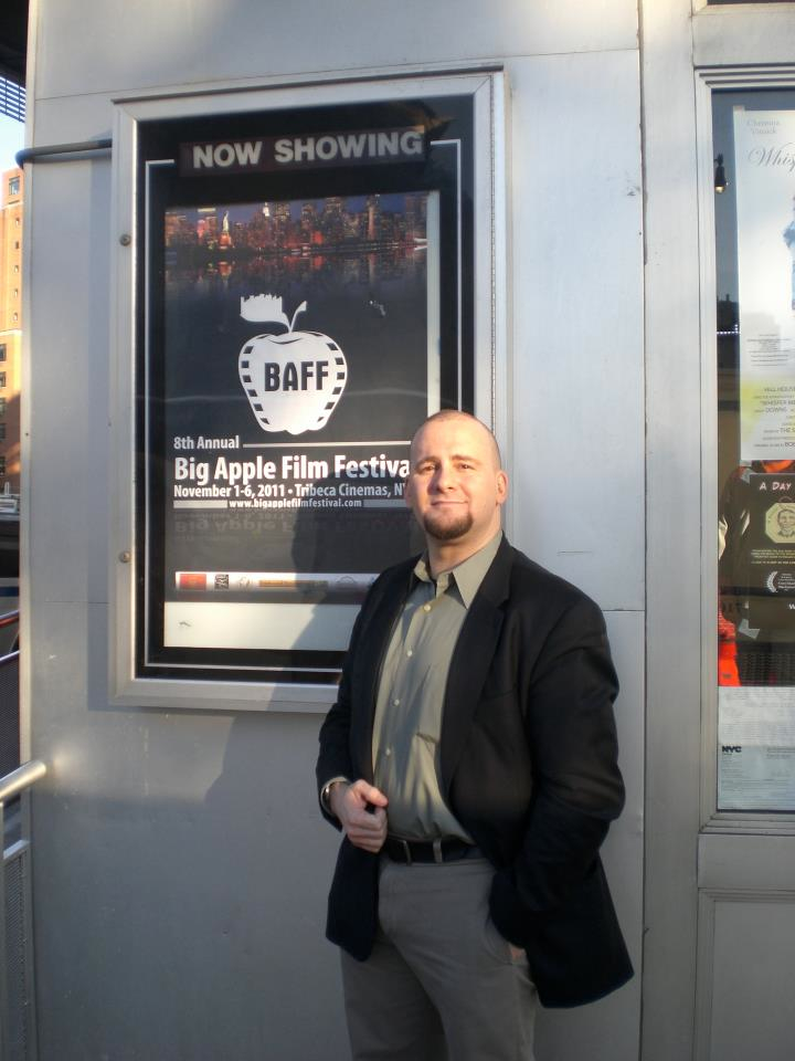 "Daniel Lawrence Abrams at the Big Apple Film Festival 2011 where ""The Knew-it-all"" screened."