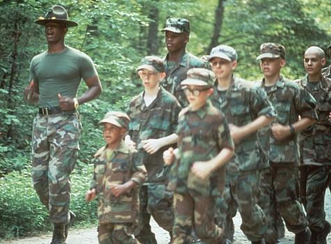 Damon Wayans, Andrew Leeds, Steven Martini, Chris Owen, R. Stephen Wiles, and Damien Dante Wayans in Major Payne (1995)