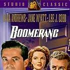Dana Andrews, Lee J. Cobb, and Jane Wyatt in Boomerang! (1947)
