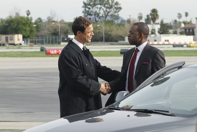 Courtney B. Vance and Sebastian Siegel in Flashforward (2009)