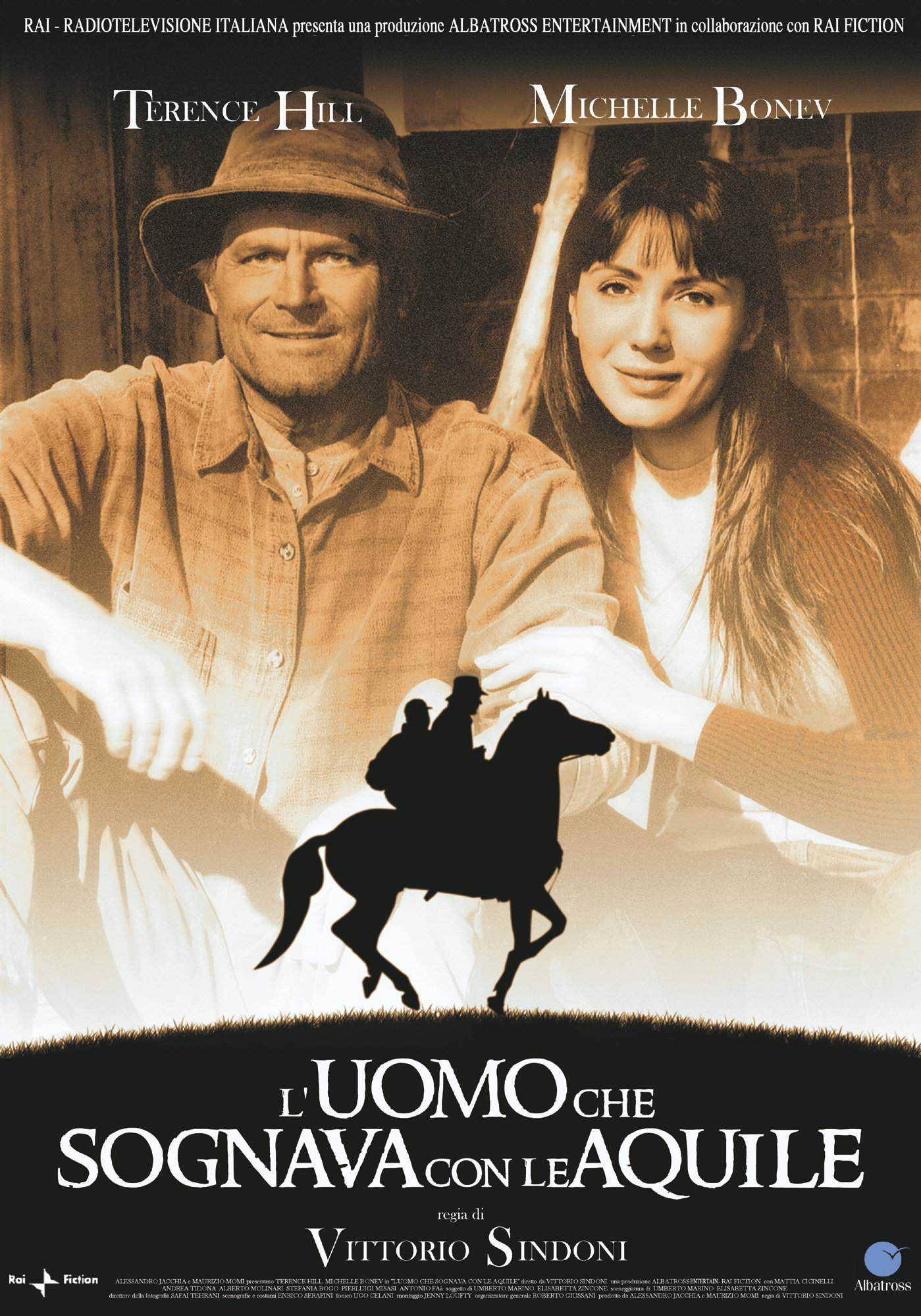 Terence Hill and Michelle Bonev in L'uomo che sognava con le aquile (2006)