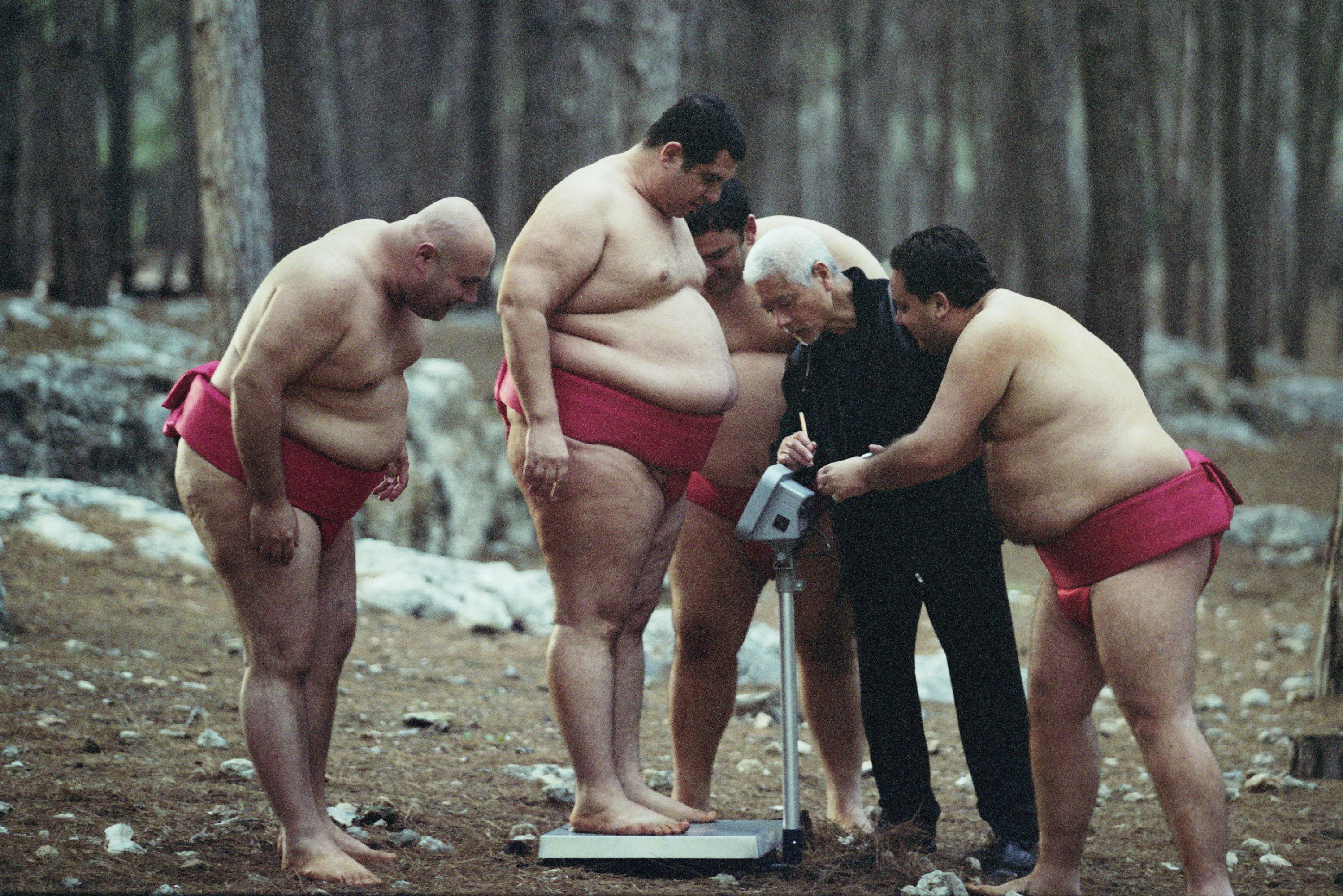 Dvir Benedek, Itzik Cohen, and Alon Dahan in A Matter of Size (2009)