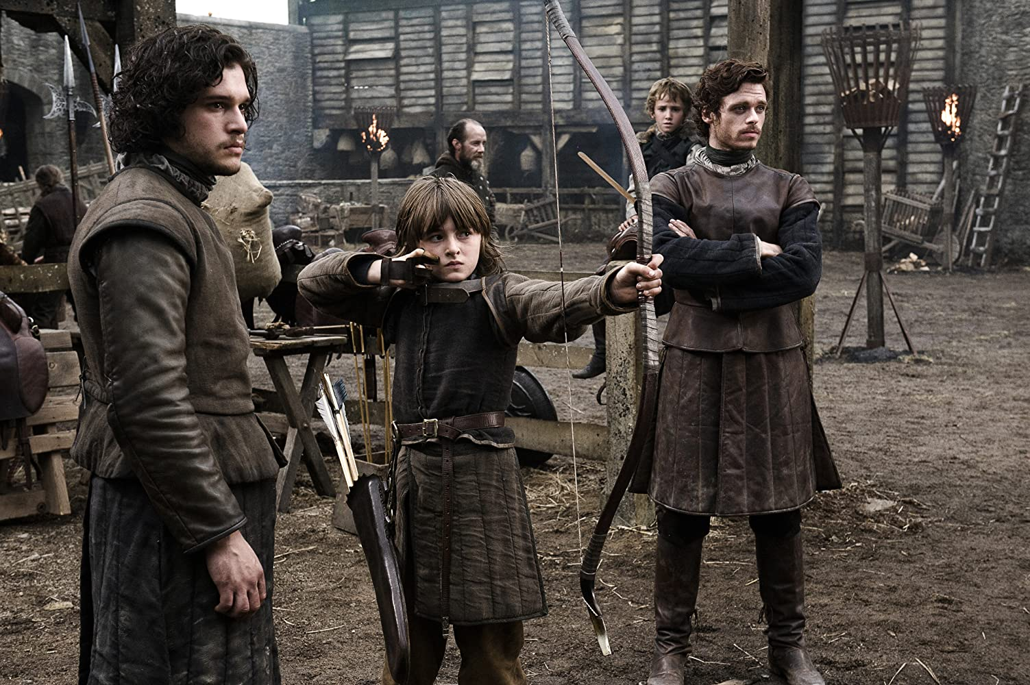 Richard Madden, Kit Harington, Art Parkinson, and Isaac Hempstead Wright in Game of Thrones (2011)