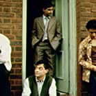 """L to R: Jimi Mistry, Emil Marwa (front), Raji James, and Chris Bisson star in """"East is East"""""""