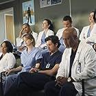 Patrick Dempsey, Peter MacNicol, Justin Chambers, Sarah Drew, Chyler Leigh, James Pickens Jr., Ellen Pompeo, Sara Ramirez, Jesse Williams, and Chandra Wilson in Grey's Anatomy (2005)