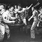 Burt Lancaster, Frank Sinatra, Ernest Borgnine, Mickey Shaughnessy, and Jack Warden in From Here to Eternity (1953)