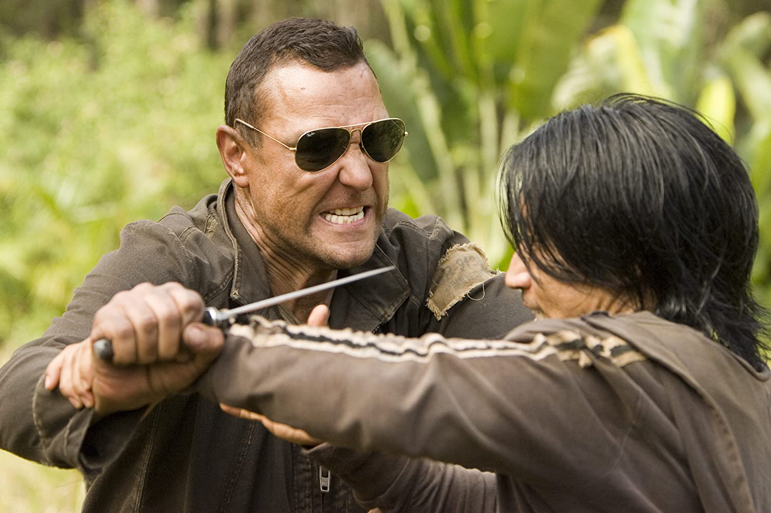 Vinnie Jones and Masa Yamaguchi in The Condemned (2007)