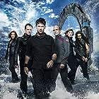 Robert Picardo, Joe Flanigan, David Hewlett, Rachel Luttrell, Jason Momoa, and Jewel Staite in Stargate: Atlantis (2004)