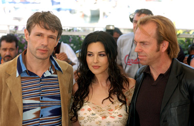 Monica Bellucci, Hugo Weaving, and Lambert Wilson at an event for The Matrix Reloaded (2003)