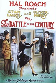Oliver Hardy, Dorothy Coburn, Charlie Hall, and Stan Laurel in The Battle of the Century (1927)