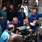 "Center Row (L-R):  Genya Chernaiev (MIR 1 Pilot), Victor Nischeta (MIR 2 Pilot), James Cameron (Director/Producer) - Top Row (L-R):  Dr. Maya Tolstoy (Marine Seismologist - Lamont-Doherty Earth Observatory of Columbia University), Mike Cameron (ROV Creator & Pilot), Loretta Hidalgo (Space Generation Foundation President), Dr. Pamela ""Pan"" Conrad (Astrobiologist - Jet Propulsion Laboratory), Dr. Arthur ""Lonne"" Lane (Astronomer / Planetary Scientist - Jet Propulsion Laboratory)"
