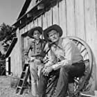 Connors and Crawford at 20th Century Fox Ranch (now known as Malibu Creek State Park) in 1958.