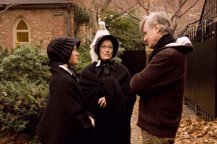 Meryl Streep, Amy Adams, and John Patrick Shanley in Doubt (2008)