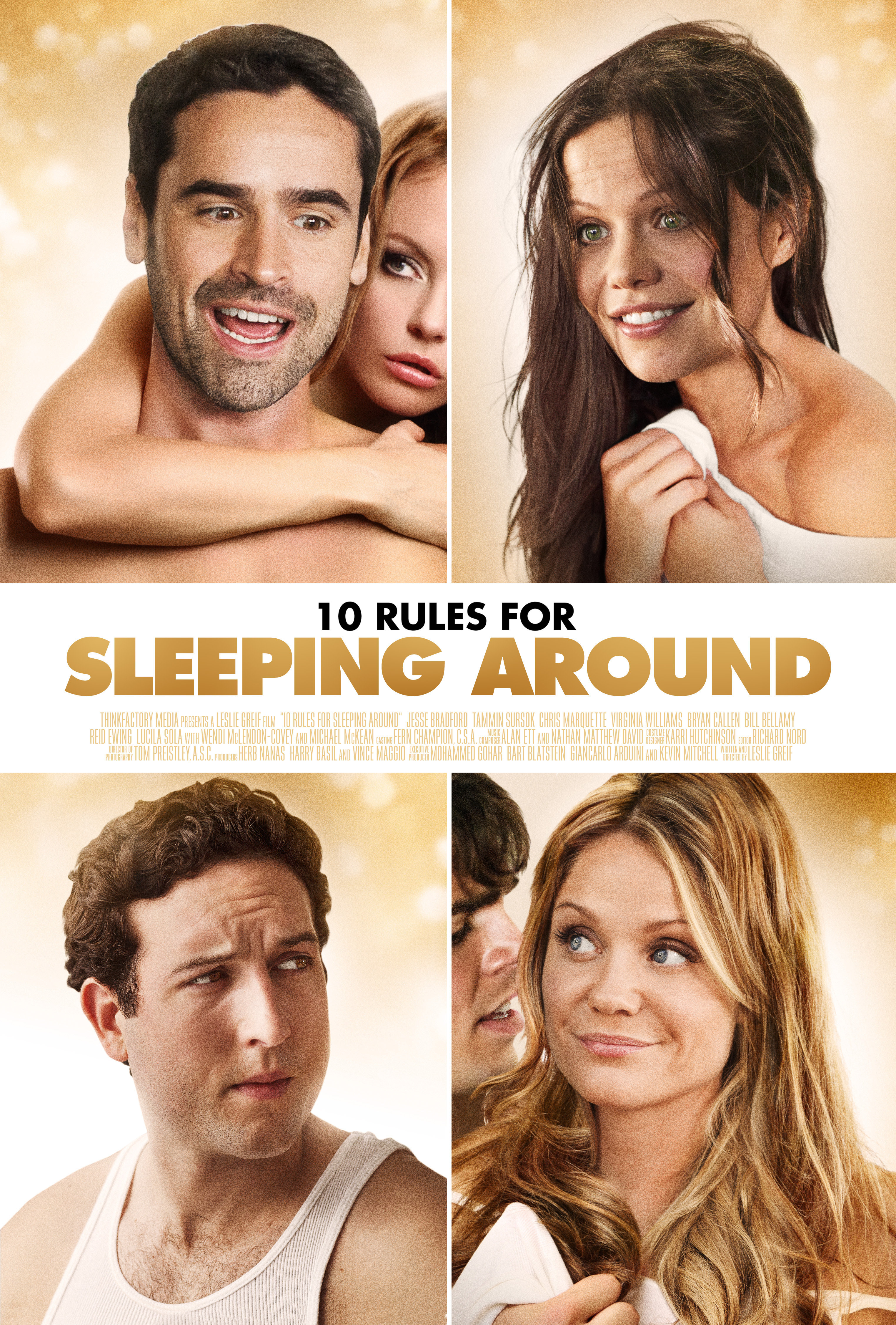 Jesse Bradford, Chris Marquette, Tammin Sursok, and Virginia Williams in 10 Rules for Sleeping Around (2013)