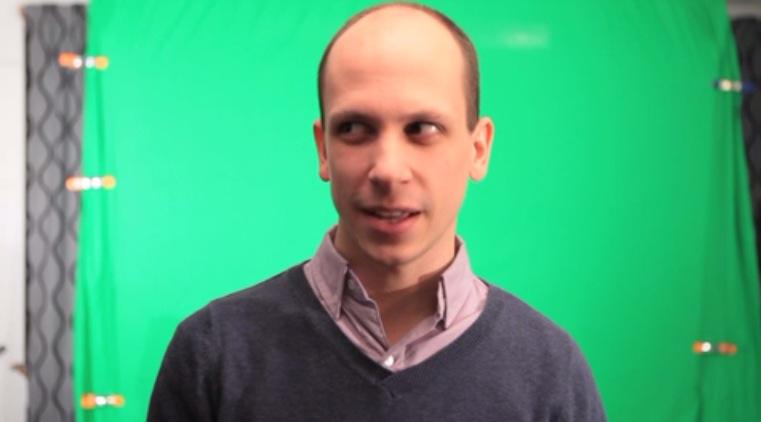 Still of Paul Gosselin in a commercial directed by Greg Robbins