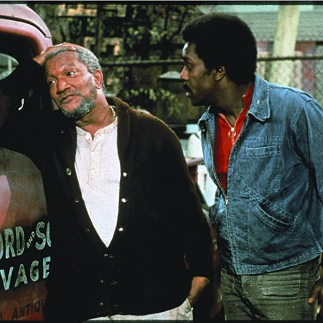 Redd Foxx and Demond Wilson in Sanford and Son (1972)