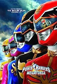 Chris Auer, Christina Masterson, Azim Rizk, Ciara Hanna, Andrew Gray, and John Mark Loudermilk in Power Rangers Megaforce (2000)