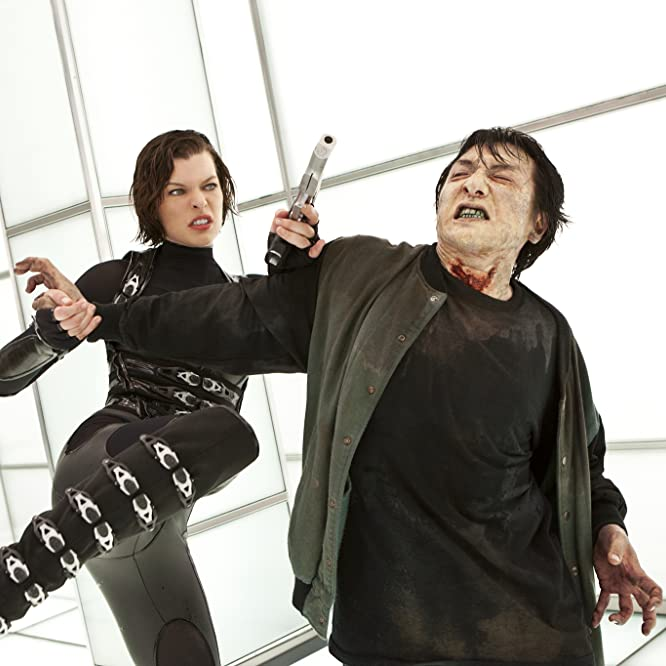Milla Jovovich and Jackie Chan in Resident Evil: Retribution (2012)