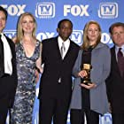 """Cast members of """"The West Wing"""" backstage at the TV Guide Awards"""