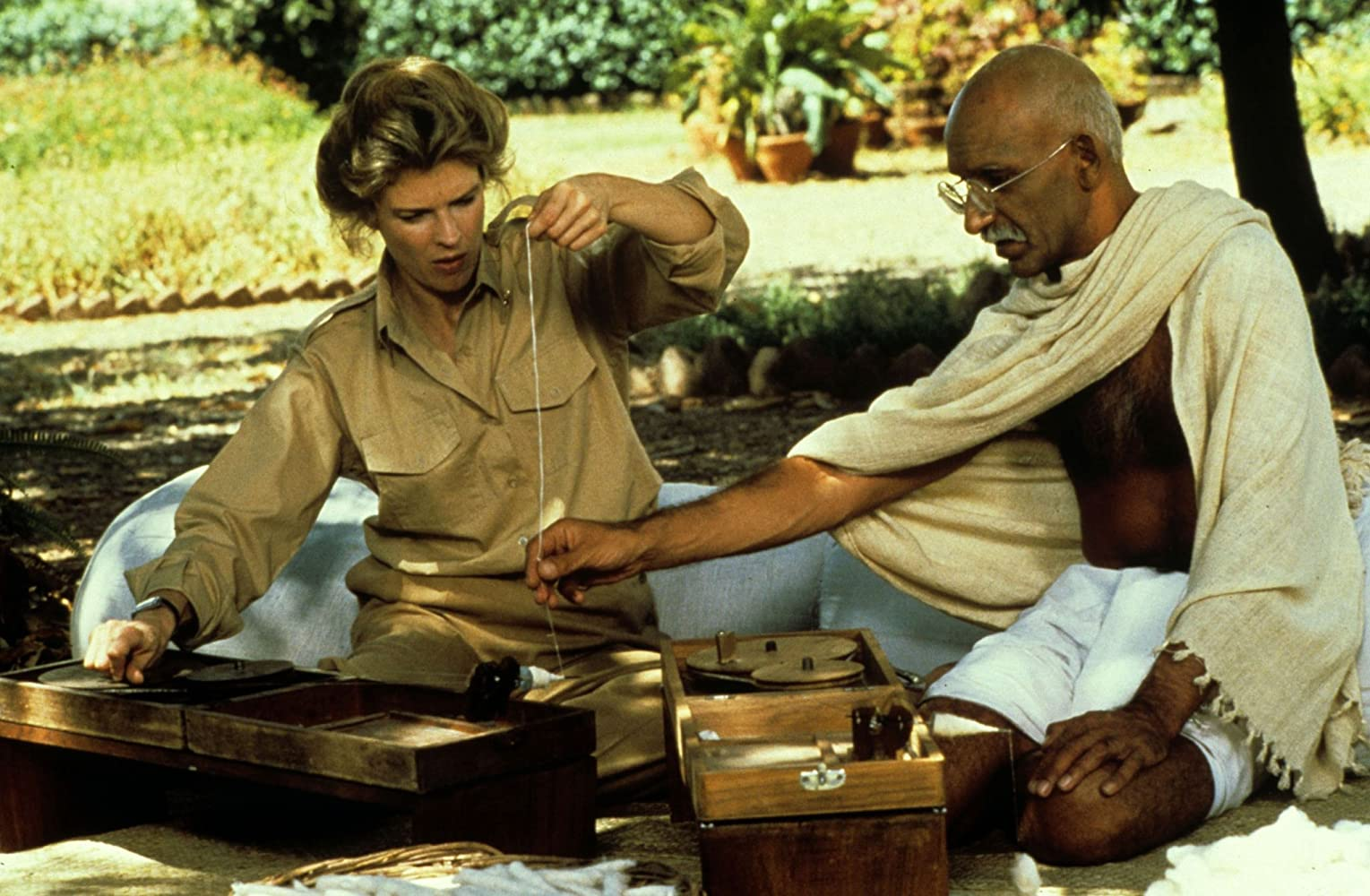 Candice Bergen and Ben Kingsley in Gandhi (1982)