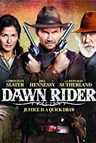 Christian Slater, Donald Sutherland, and Jill Hennessy in Dawn Rider (2012)
