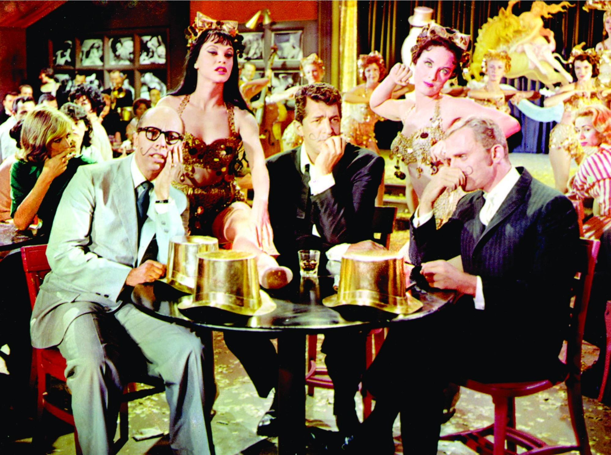 Dean Martin, Frank Gorshin, and Bernard West in Bells Are Ringing (1960)